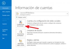 Cómo modificar una cuenta de correo POP3 en Outlook 2013