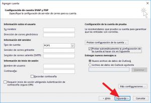 Cómo configurar Outlook 2013 para cuentas POP3 SMTP