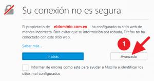 Mensaje Su conexión no es segura al acceder a cpanel o webmail